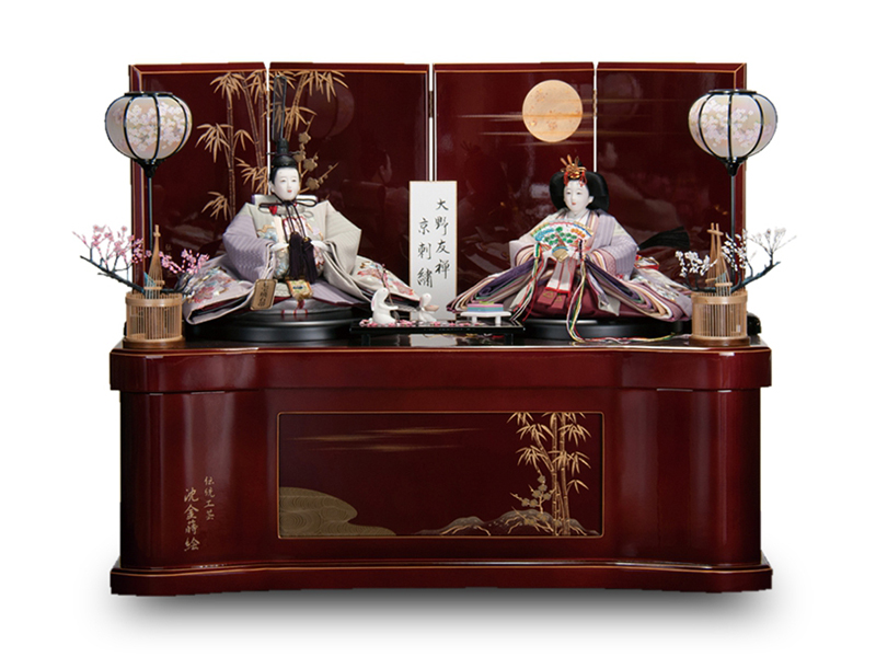 京刺繍 収納式 親王飾り
