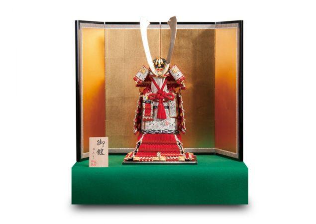 純金鍍金赤糸威大鎧
