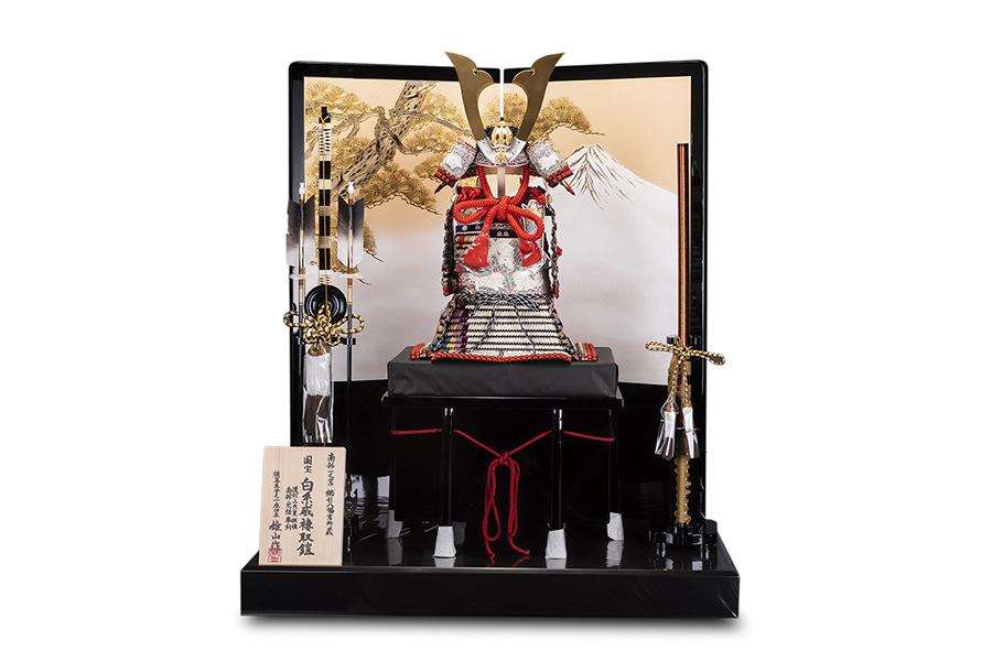 白糸威 褄取 国宝模写本仕立鎧