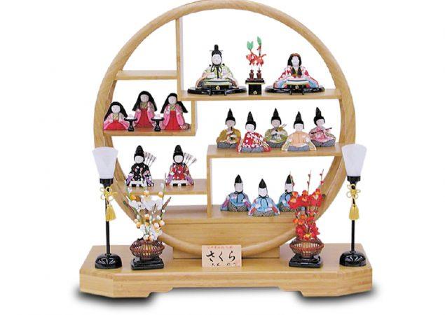 「はるか」十五人揃竹円型飾り