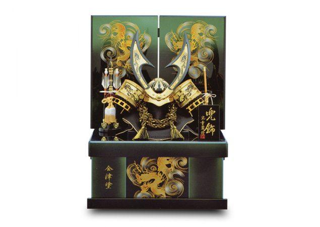 会津塗 収納式彫金兜