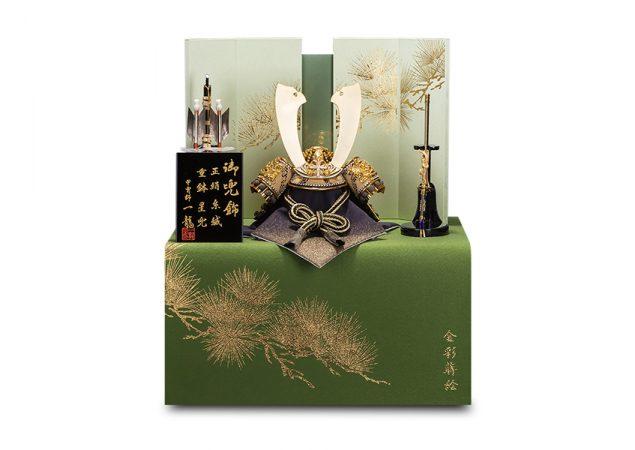 皇輝王 萌黄裾濃威 収納式兜