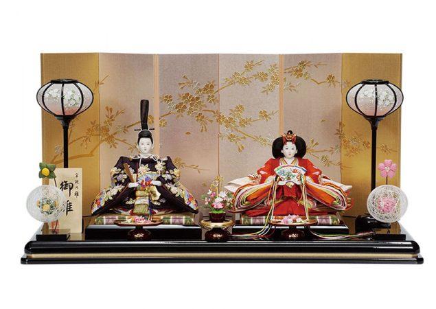 桜扇面文様 親王飾りセット