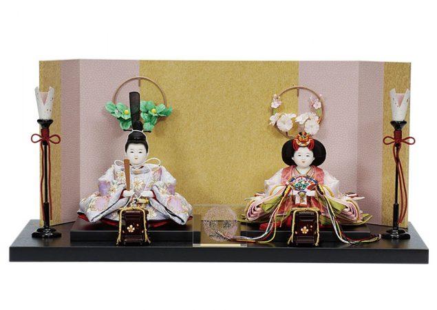 雪輪に桜文様 親王飾りセット
